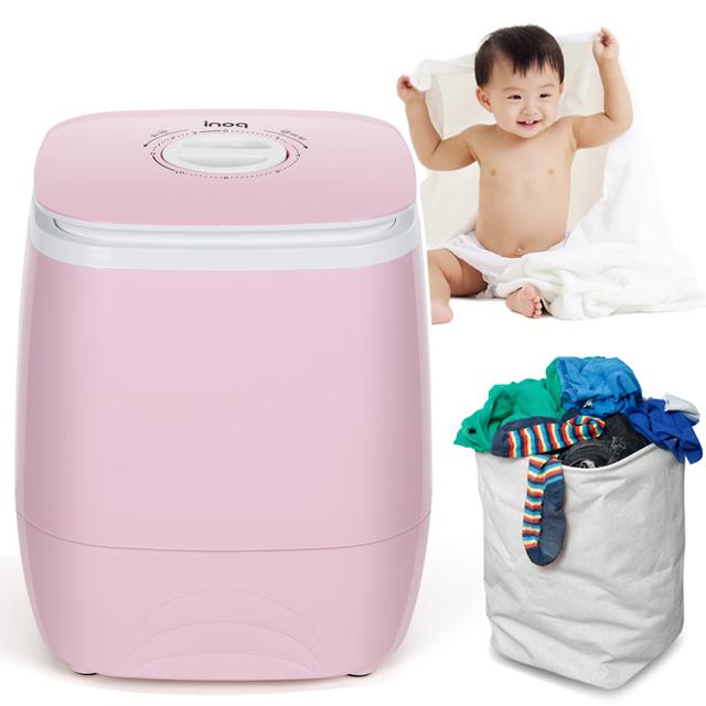 소형 미니세탁기 탈수기 통돌이 원룸 1인용 아기 속옷 걸레 운동화, W1[핑크]