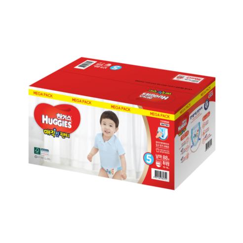 하기스 매직팬티 컴포트핏 팬티형 기저귀 남아용 특대형 5단계(13~18kg)