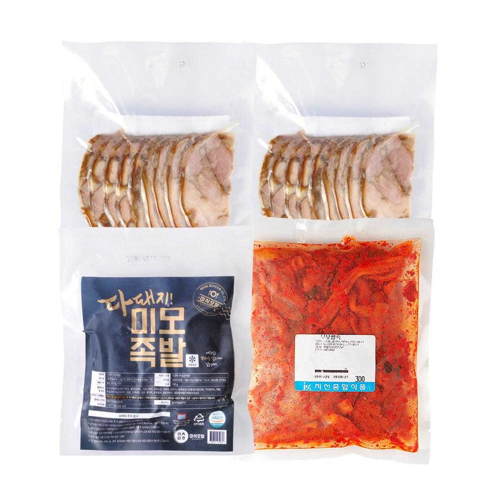 미식모험 냉동식품 순살미모족발3팩+무말랭이보쌈속1봉, 3팩, 150g