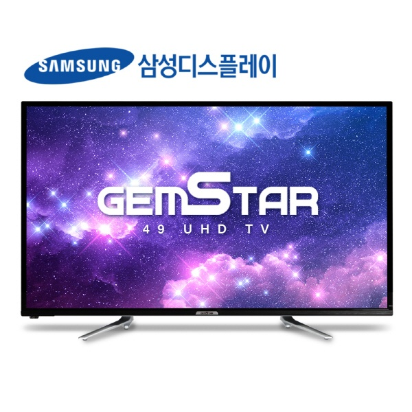 라온하우스 [GEMSTAR ] 프리미엄 49인치 스탠드형 텔레비전 tv/티브이/LED TV /UHD TV/삼성패널 /택배발송, 스탠드 571849, 자가설치