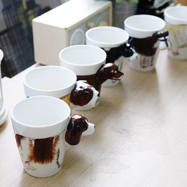 IYK287465[우수상품]머그컵 디자인 3D 소품 감각적인 강아지 인테리어 어린이집컵 물컵 유아컵 위생컵 안깨지는컵, 불테리어