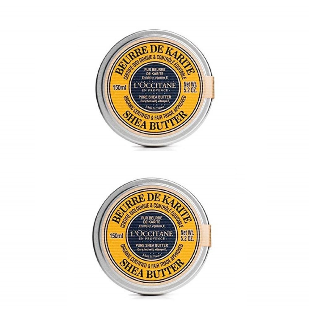 록시땅 퓨어 시어 버터 EFT 에코서트 멀티밤 150ml, 단일 색상, 2개