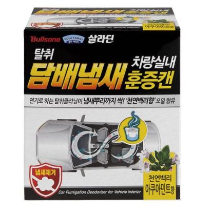 불스원 탈취항균 훈증캔 실내 담배냄새 제거용 아쿠아민트, 3.4g, 2개