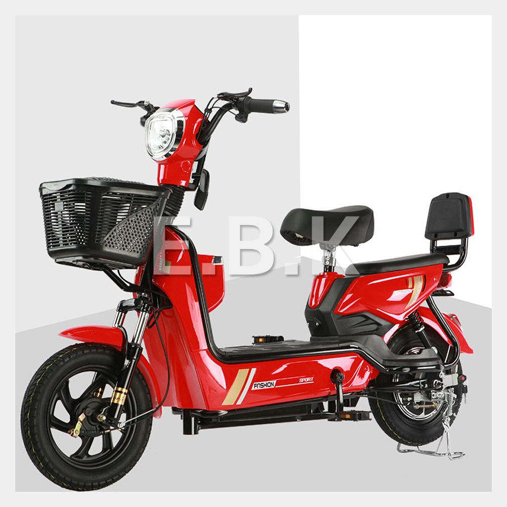 전기 자전거 2020 최신형 GX 2인용 48V 12A_20A 350W 전동스쿠터 납산 리튬배터리 주문즉시 공장출고 2일내선적 전동 스쿠터 모터 배터리1년보증 추가 배터리 구입가능, 레드