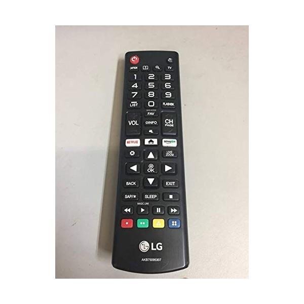 AKB75095307 스마트 TV 오리지널 리모콘 LCD LED LG와 호환되는 스마트 TV (배터리 포함되지 않음), 단일상품