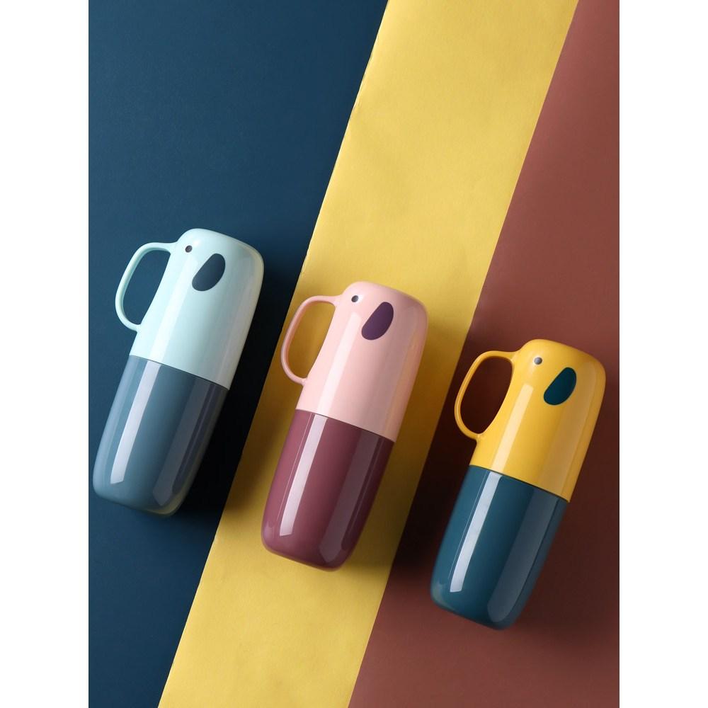 칫솔 캡흡착 이름표 물때안끼는칫솔걸이 여행용 양치컵 가정용 수납함 화장실 이빨, 옵션04