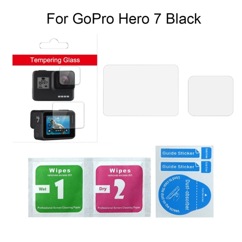 GoPro Hero 용 강화 유리 보호 필름 화면 보호기 7 6 5 액세서리, 7 블랙