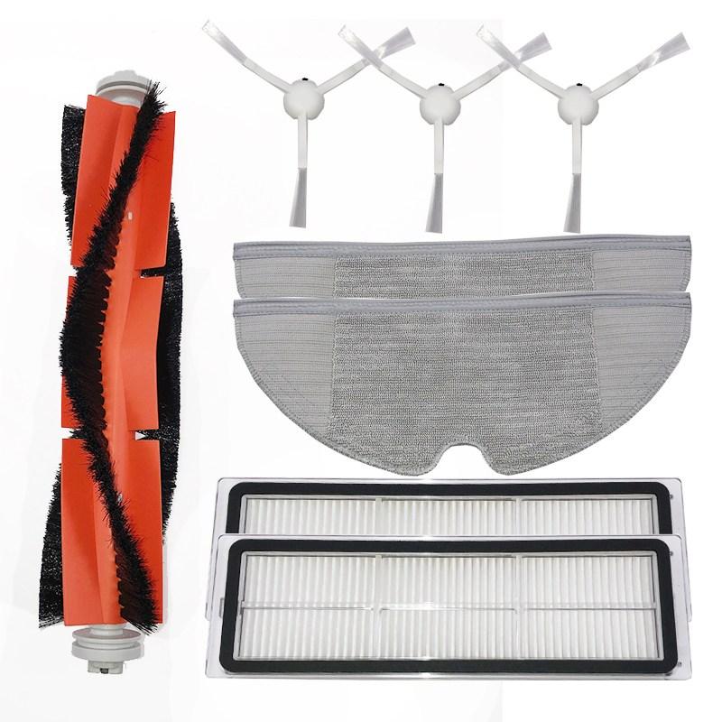 창문로봇청소기 적합사용 샤오미 미지아 물걸레청소 로봇기계 1C전자동 청소기 청소 바닥닦기 바닥청소기 부품 세트, T01-메인브러시 1필터 2사이드브러시 3천. 3 (POP 5713775662)