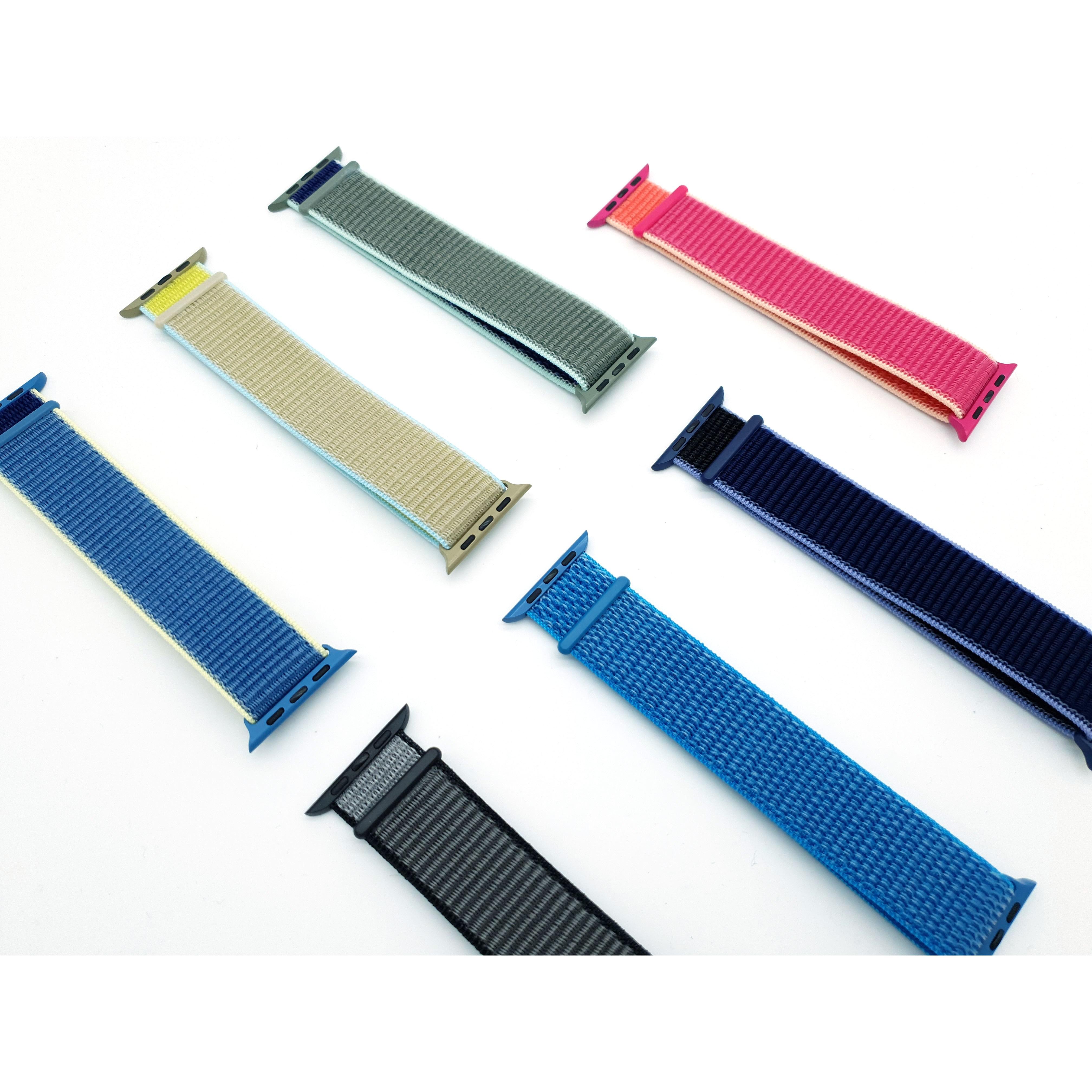 리얼유즈 애플워치5 스포츠루프 모음 (애플워치 전세대 호환), 1개, 10번 타호 블루(38/40mm)