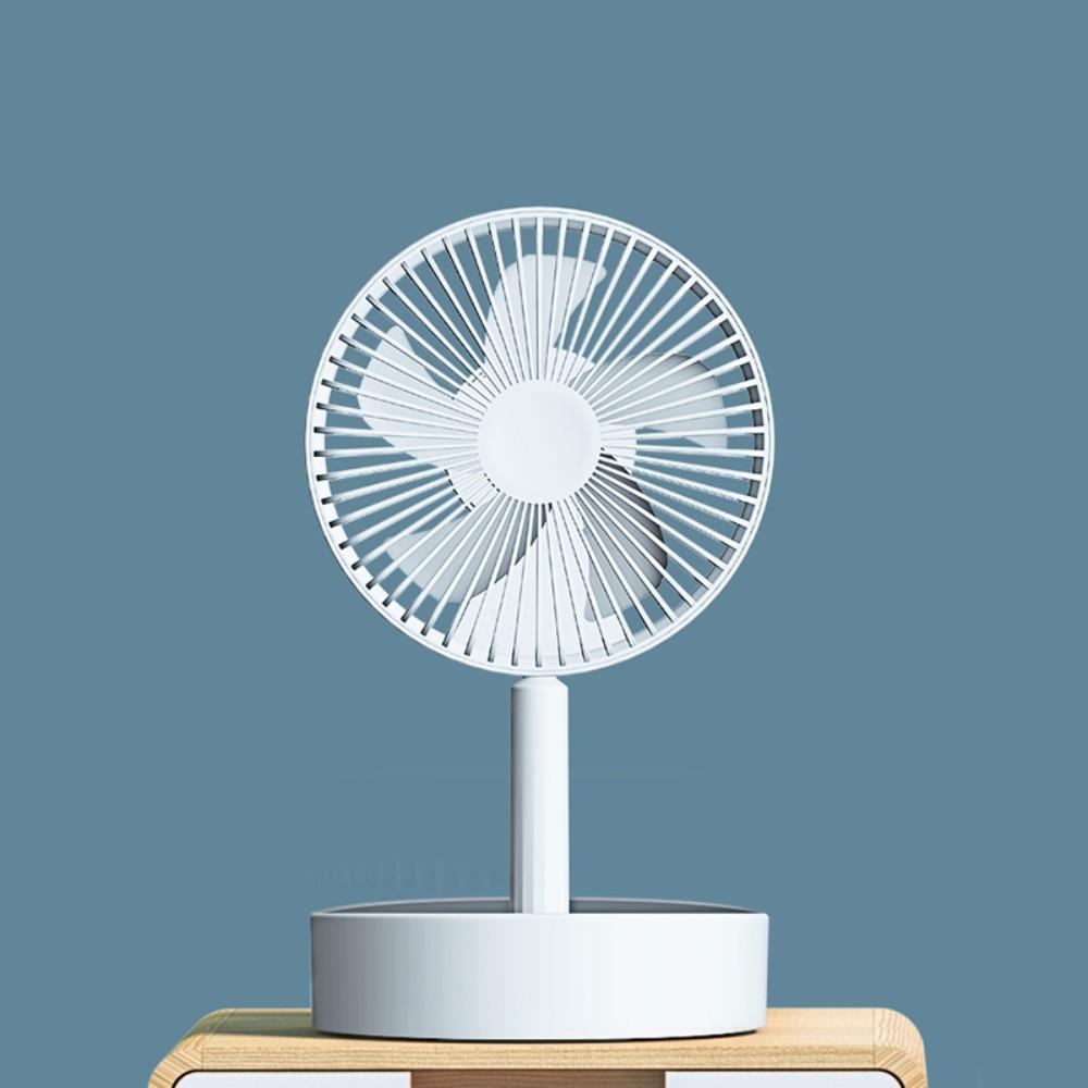 무선 휴대용 무음 리모컨 탁상 학생 기숙사 침대 야외 여름 충전 선풍기 N9s N10, 화이트 기본형 (POP 5691042995)