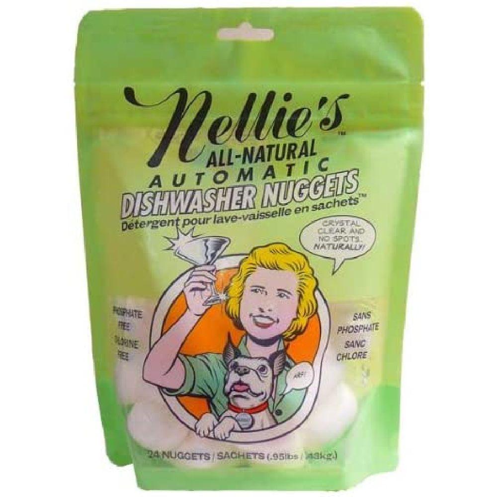 Nellie's 넬리스 올네추럴 오토메틱 주방 식기세척기 세제 24 너깃 430g, 1