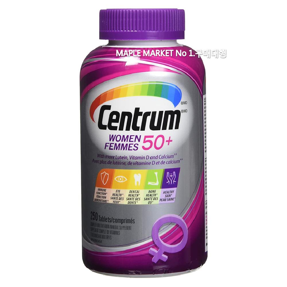 센트룸 실버 포맨 포우먼 종합비타민 250정, 1개, 50+실버우먼/250정