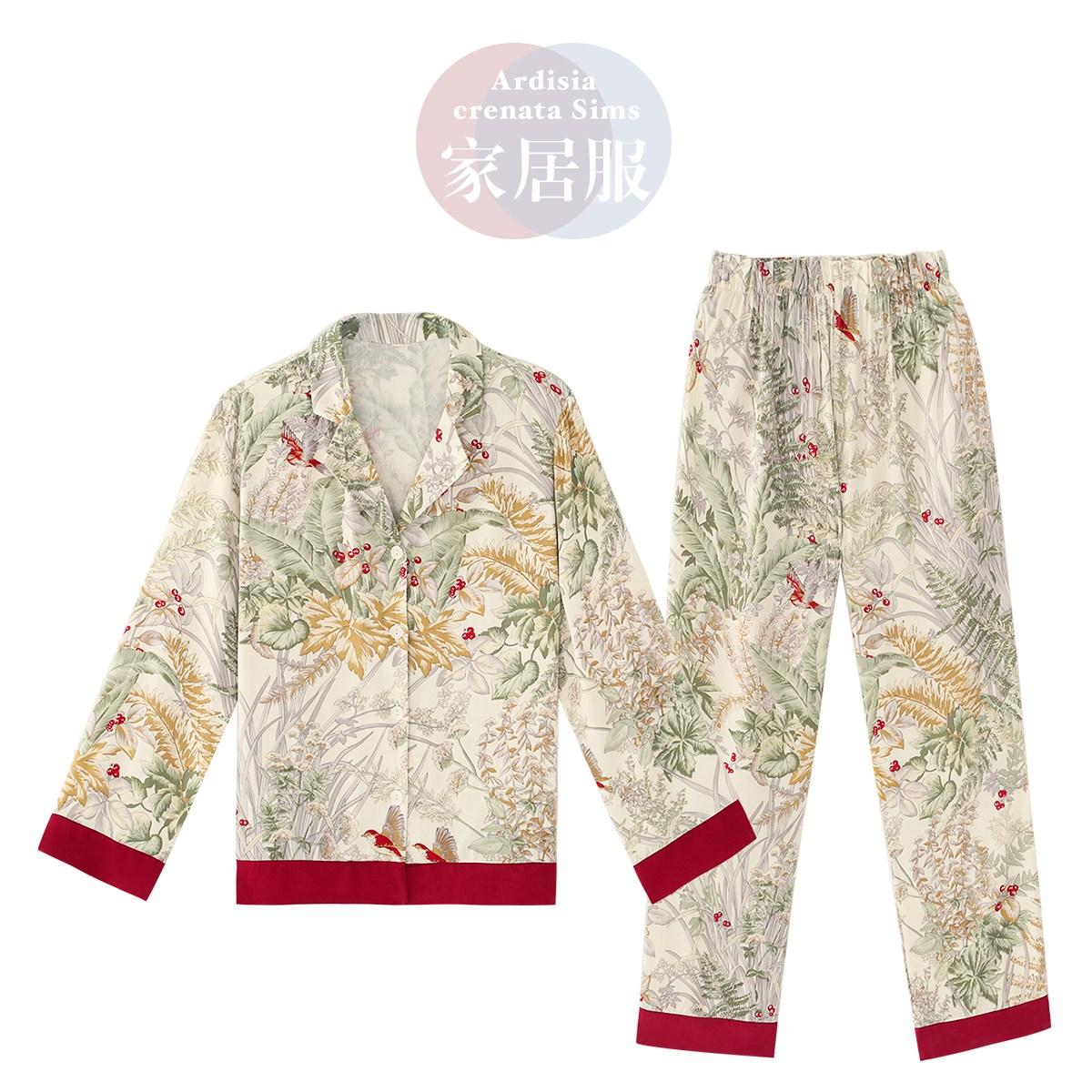 봄여름 잠옷 장화홍련st 빈티지 파자마 빠른 항공 배송