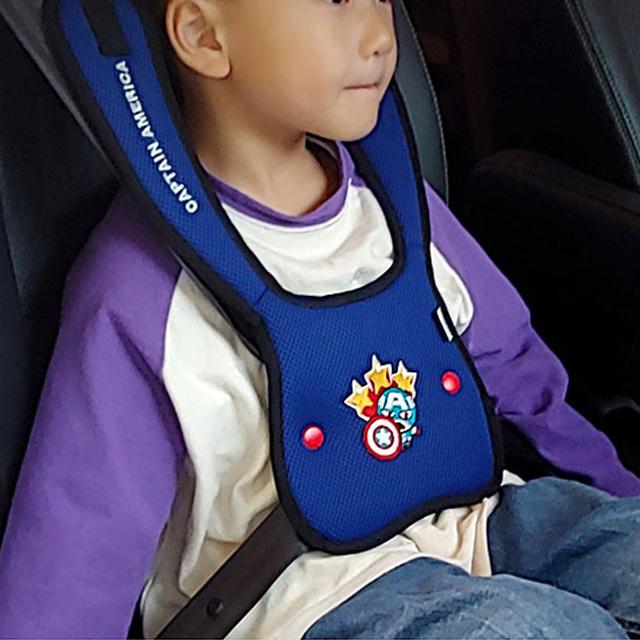 어린이 안전벨트 유아 가드 휴대용 유아용 주니어 아이 커버 어린이용 초등학생 5세 5살, 03. 블루