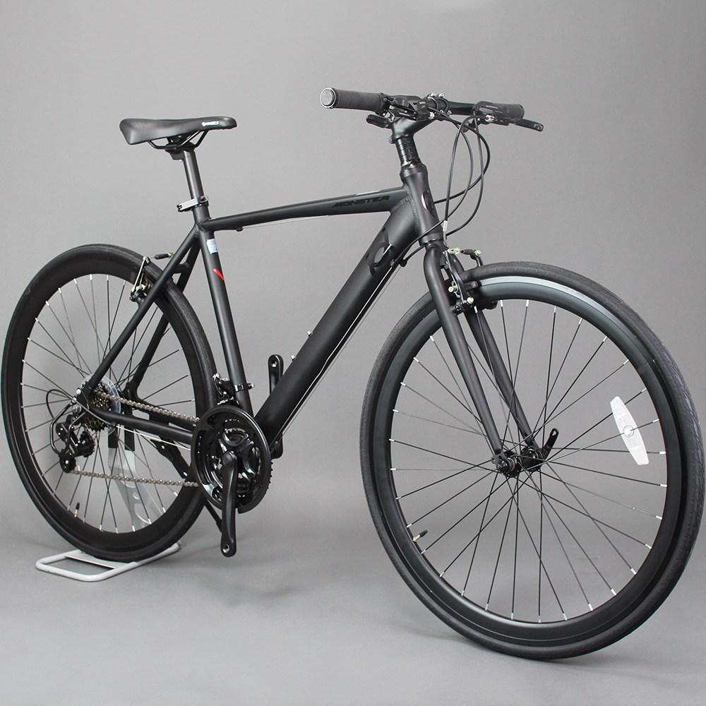 오투휠스 몬스터H 입문용 하이브리드 자전거 700C, 98%조립-택배배송, 화이트 - 510