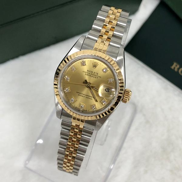 중고명품 로렉스 데이져스트 10P 여성용 손목시계 예물시계 S200609-01