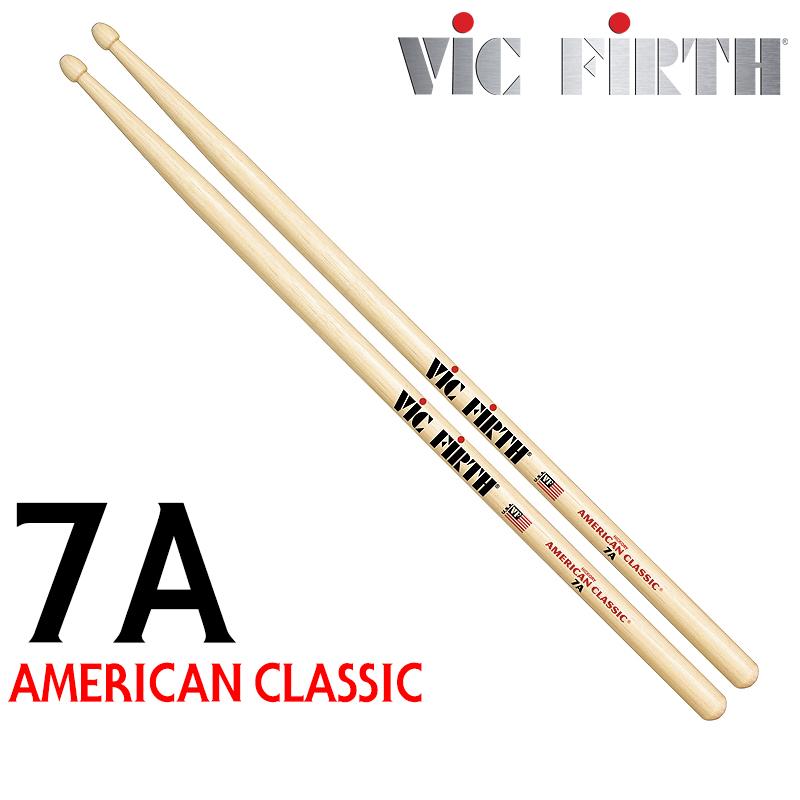 Vic Firth (빅퍼스) 아메리칸 클래식 7A (우드팁) 드럼스틱