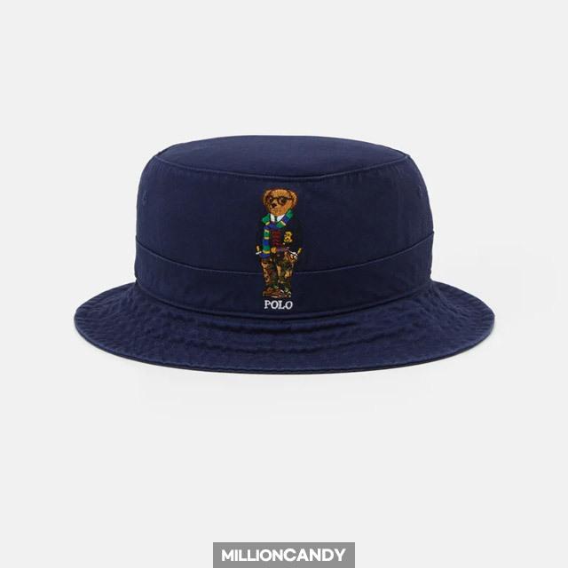 정품 폴로 랄프로렌 뉴 본드 버킷햇 PO254R00B-K11 곰돌이 로고 데일리 벙거지 모자 네이비