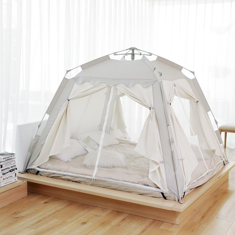 방텐트 자동 텐트 방안 면이너 겨울 성인 보온 방한가정용 침대, 13. 색상 분류: 고급 그레이 길이 2  폭 15  높이 155m 2-3 명