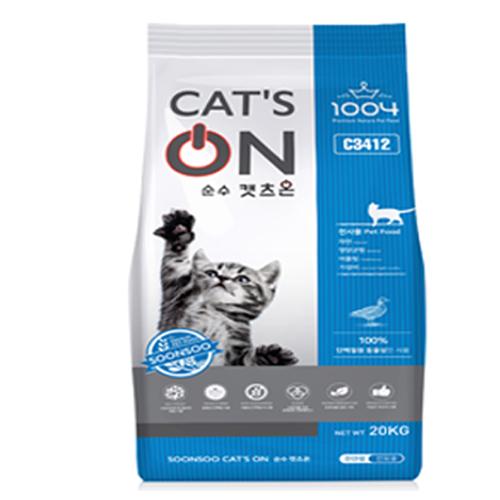 순수 캣츠온20kg (비닐포장) 고양이사료 길냥이사료, 1개, 20kg