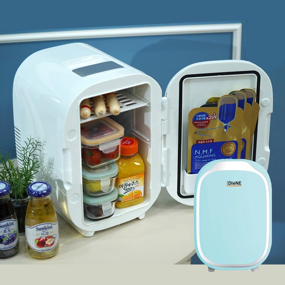 디엔 화장품 냉온장고 6L 다용도 냉장고 미니 친환경 냉장 온장 가정용 차량용