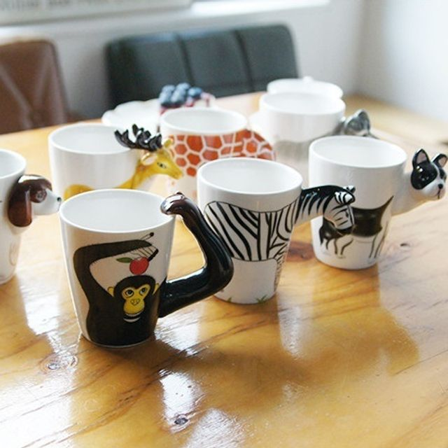 W66232BP 물 7종류 머그 유리 안깨지는 컵 유아 유치원 위생 동물디자인 귀여운 커피잔 커피 실리콘 어린이집 아이 3D 플라스틱 어린이 머그컵, PD 슈나우져