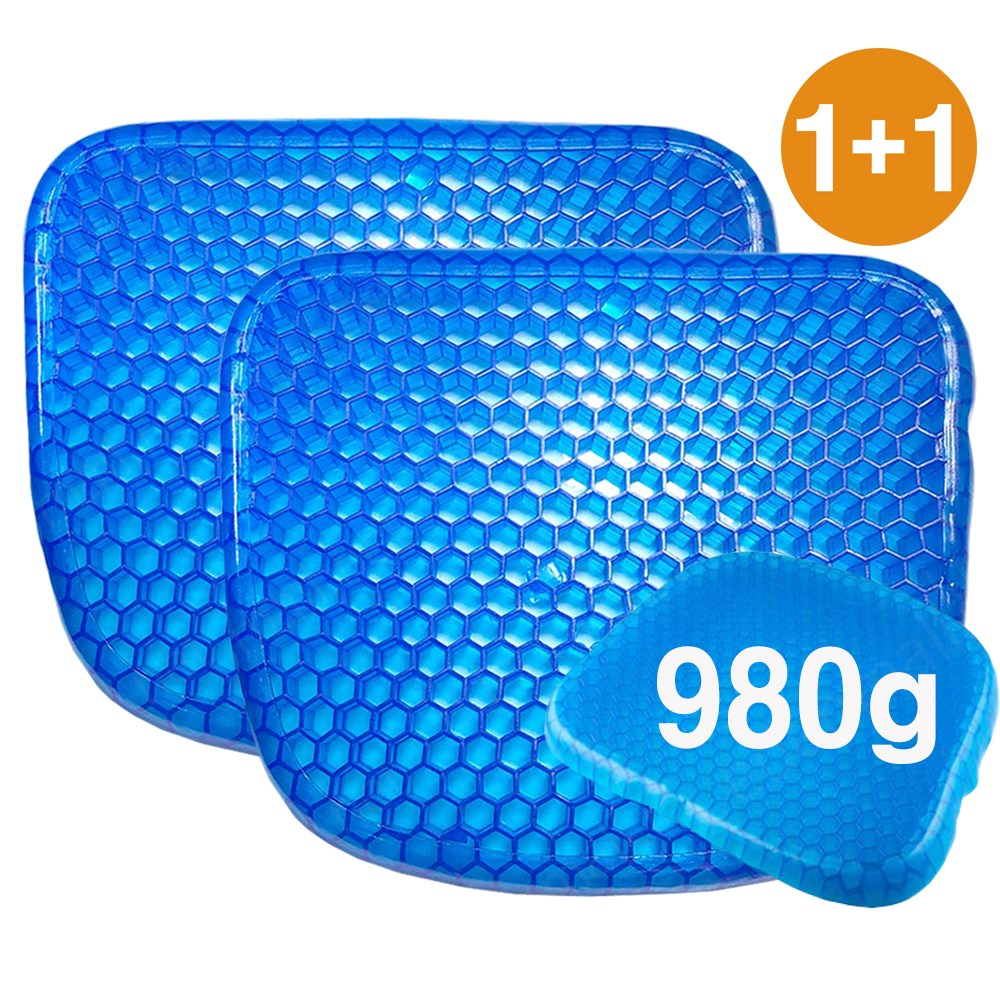 Eggsitter 에그시터(1+1) 실리콘 벌집방석 쿨방석 중량 980g 이상 (장)40cmx(폭)35cm(고)4cm 통풍방석, 에그시터 실리콘 벌집방석(1+1)