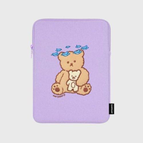 [텐바이텐] Blue bird bear-purple-ipad pouch(아이패드 파우치), FREE