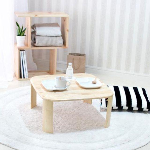 거실 테이블 확장형 기능성 베란다 4인 1인 2인 6인 원형 좌식 입식 원목 나무 티 좌탁 통 라탄, 본상품선택