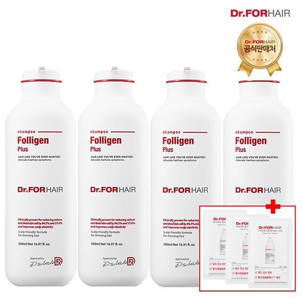 닥터포헤어 폴리젠 플러스샴푸 500mlX4개, 단일상품