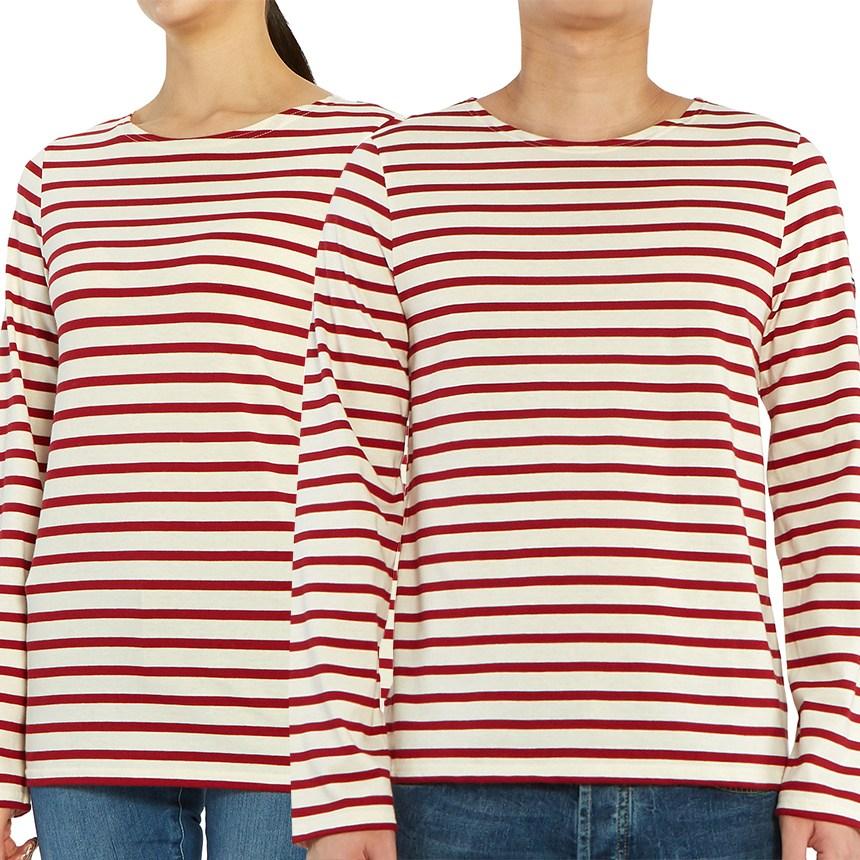 세인트제임스 [세인트제임스] 밍콰이어 모던 스트라이프 9858 OU 남여공용 긴팔티셔츠