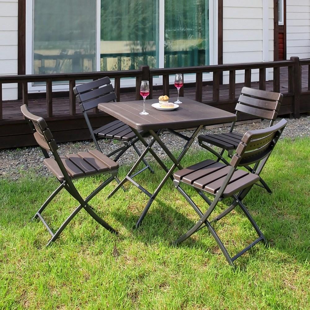 아르망 800 브로몰딩 테이블 아르망의자 4개 세트, 테이블1ea+의자4ea
