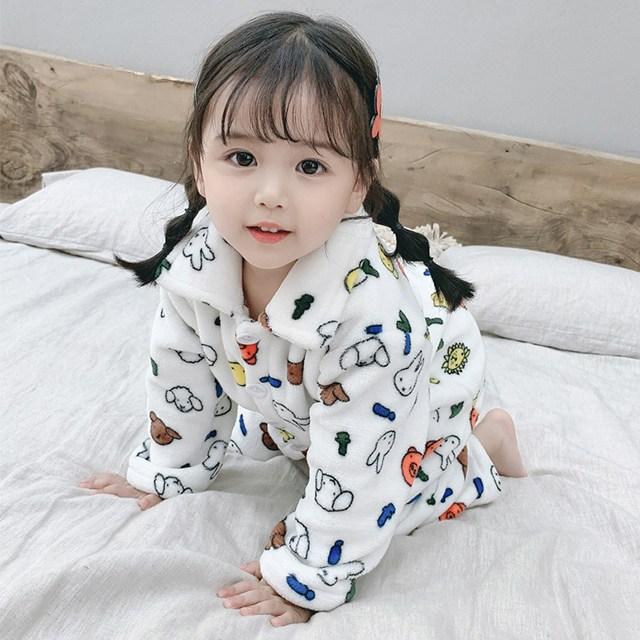 [당일발송] 아동 동물 극세사 잠옷 여아 남아 파자마 세트