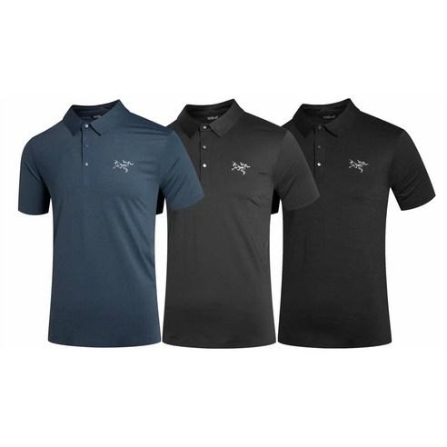 vejama Arcteryx 아크테릭스 등산 티셔츠 칼라 넥 운동 티셔츠 남자 골프 반팔 ve08