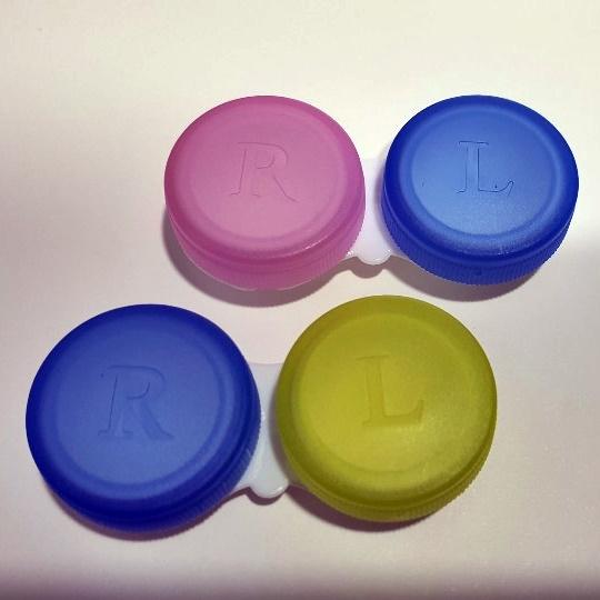 아큐브 렌즈 사용 가능한 케이스 50개 (모든 렌즈에 사용가능), 랜덤
