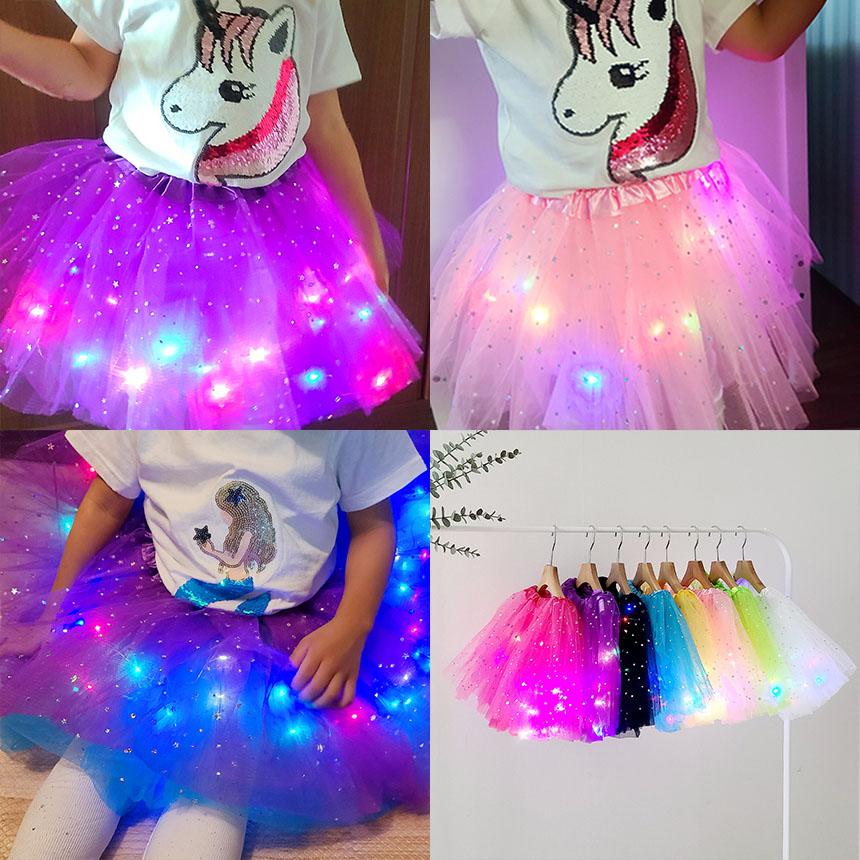온더키즈 LED 치마 불빛 튜튜 치마 공주치마 유아 여아 생일 파티 드레스 선물