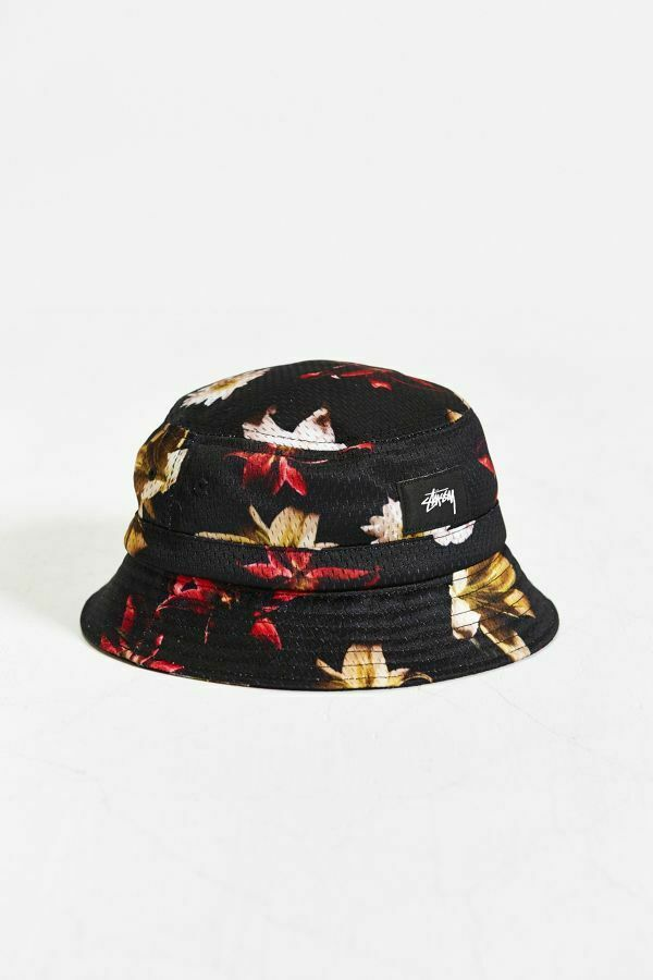 Stussy X UO Floral Mesh Bucket Hat size S/M and L/XL $42