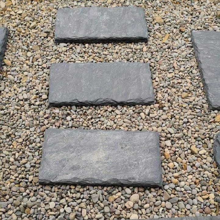 전원주택 정원 마당 옥상 테라스 조경 꾸미기 현무암 디딤석 판석 포천석, 수제 원시 가장자리 30x60cm 두께 3-4cm_다른