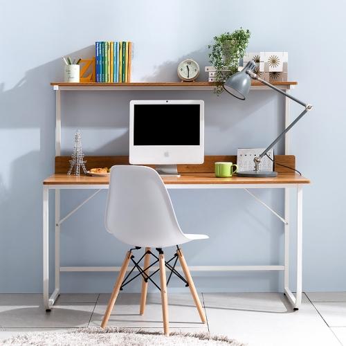 2인용 컴퓨터책상 이케아 노트북 선반형 와이드 게이밍 재택근무 홈스터디용, 화이트