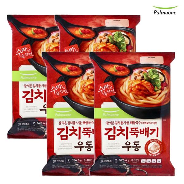 [풀무원]김치뚝배기우동(2인분)x4봉, 단품