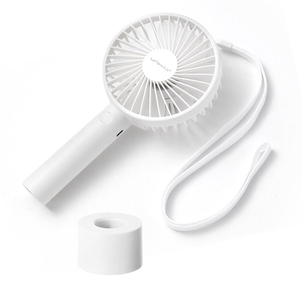 유니맥스814 미니 휴대용 핸디형선풍기 무소음 탁상용 충전용 손풍기, 색상랜덤 (POP 5358359428)