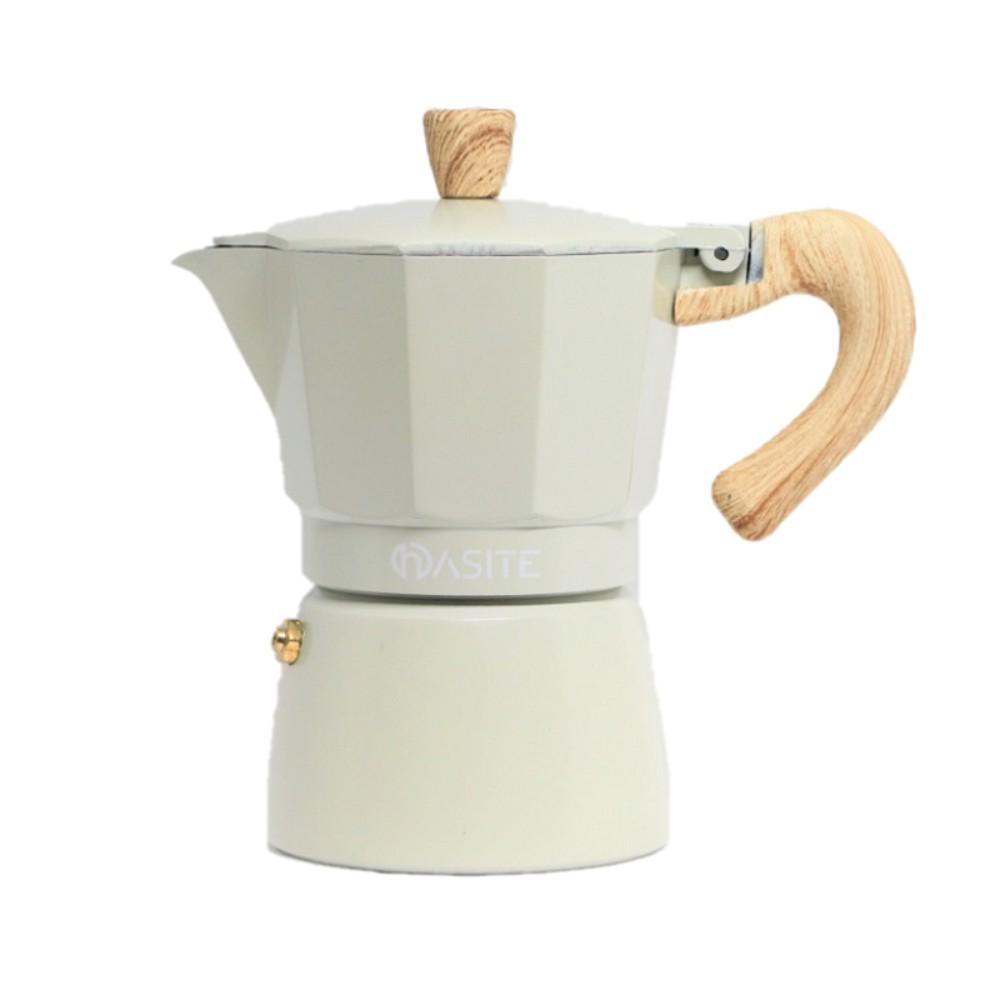 빈티지 레트로 커피메이커 모카 포트 홈 카페 캠핑 휴대용 감성 에스프레소 추출기 가정용, 3인분 150ml