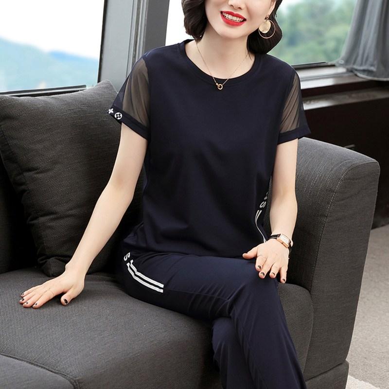 캣츠미 엄마 여름옷 유니폼 t셔츠 여성 얇은 반팔 투수영복