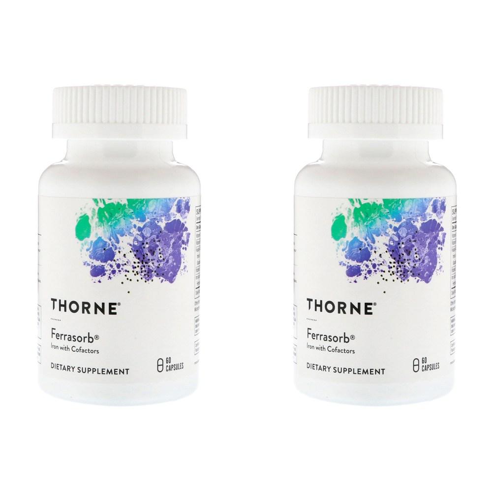 Thorne Research Ferrasorb 60정 2병, 선택, 상세설명참조