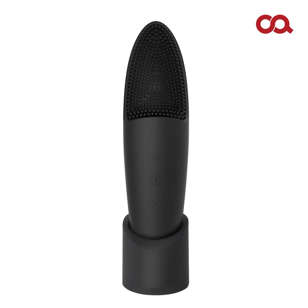 오아 퓨어라인 실리콘 진동 클렌저 얼굴 전동 마사지기 피부 홈케어 클렌징 클렌져 기계 디바이스 진동클렌저, 블랙 S0134, OSK-002BK