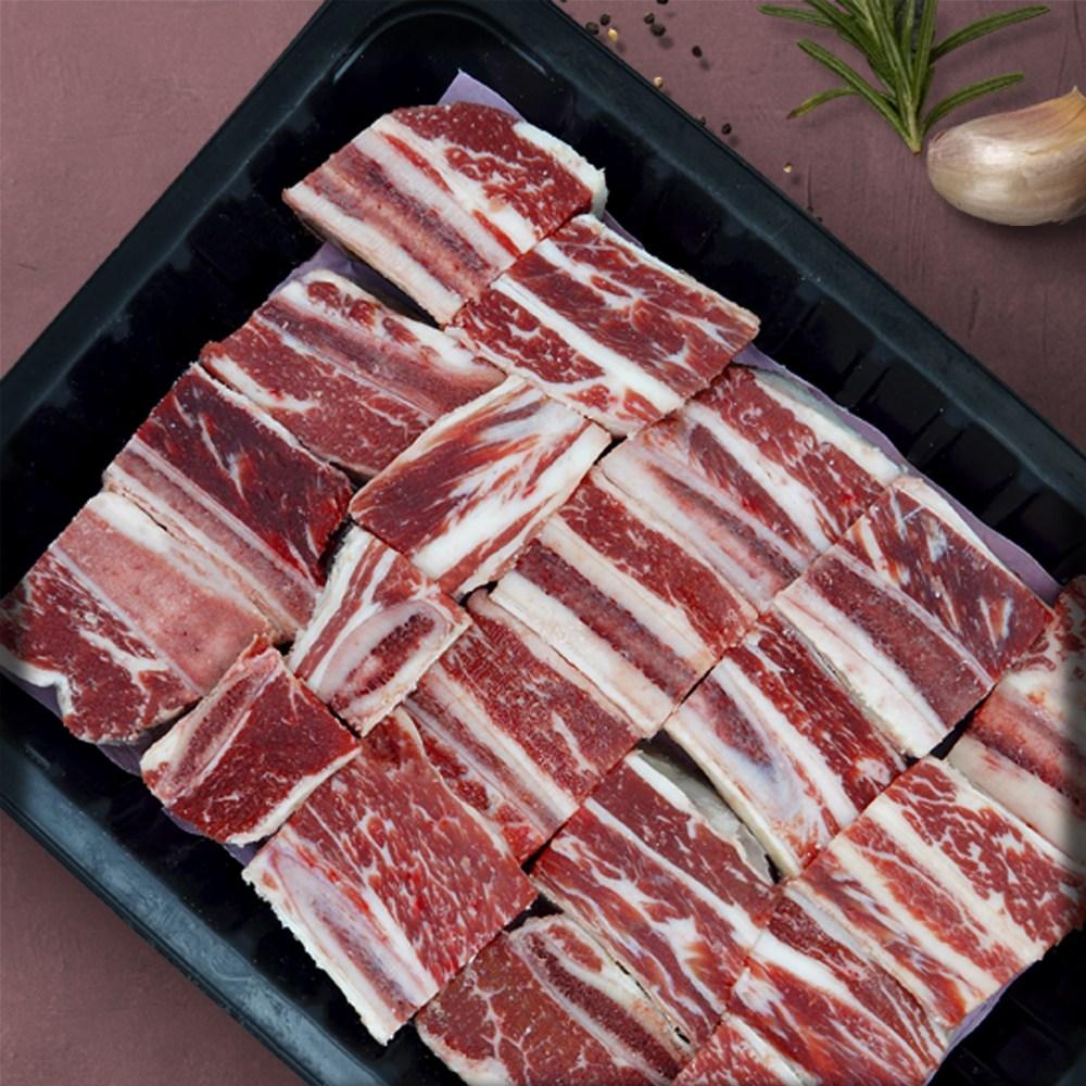 일품나라 미국산 소고기 초이스등급 꽃갈비 큐브 탕갈비 1kg, 단품