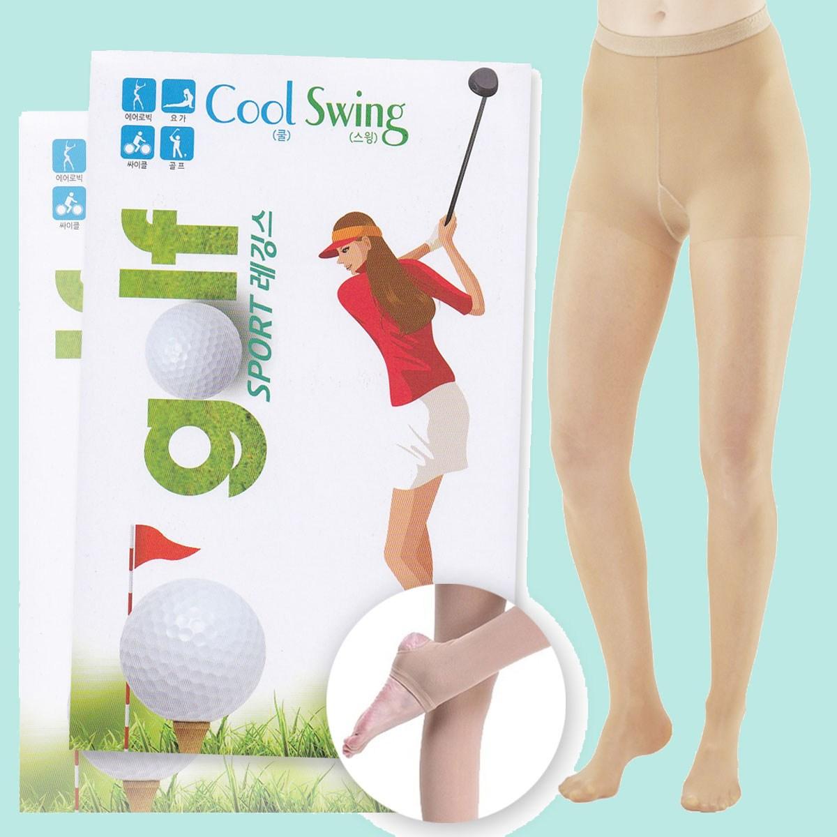 여성 자외선차단 여름 골프스타킹 골프타이즈, 커피색