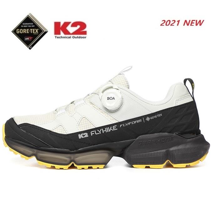 K2 케이투 광고상품 공용화 고어텍스 워킹화 트레킹 하이킹화 등산화 플라이 하이크 큐브 FUS21G13-W3 (Off White)