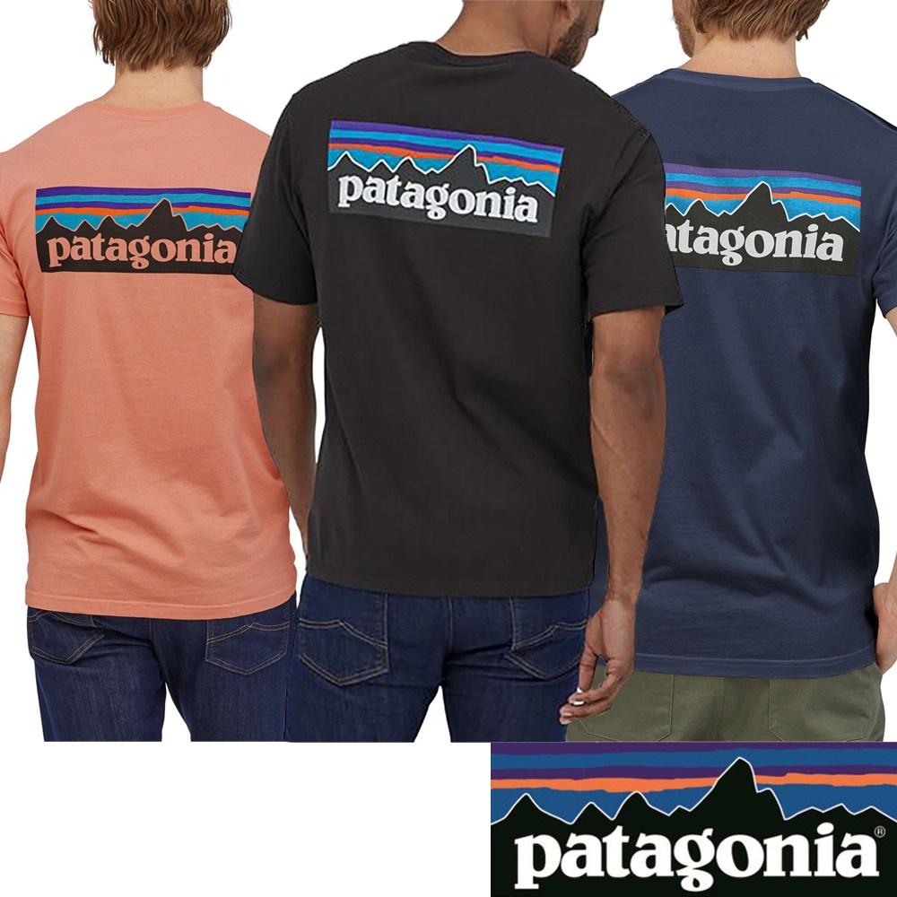 파타고니아 p-6로고 오가닉 반팔티셔츠