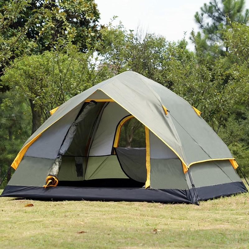 Lvban 오토매틱 텐트 야외 3-4인 캠핑 특대, 군청색